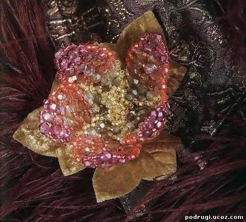 Цветы из бисера глоксиния схема.
