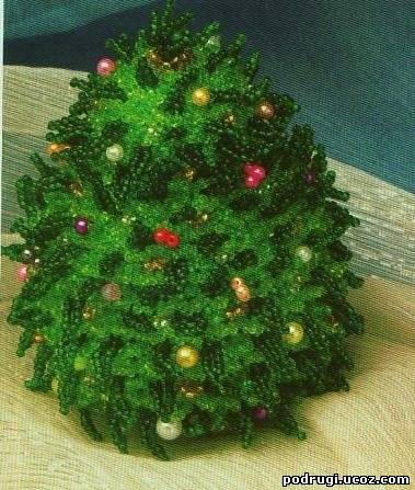 Бисероплетение схемы деревья елка.