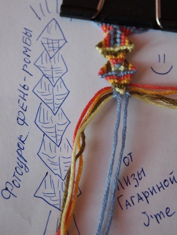 схема плетения фенечек с