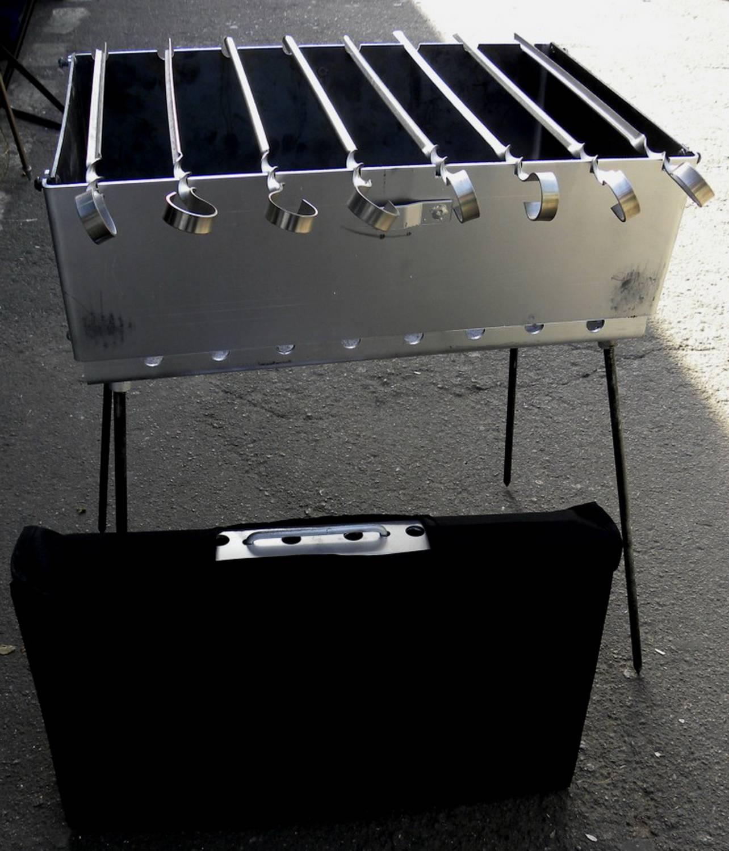 Раскладной мангал-чемодан и мангал-дипломат из металла 37