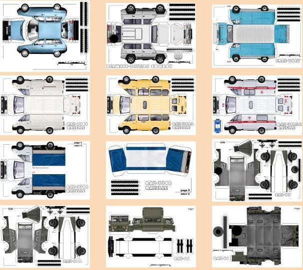 Модели легковых авто, грузовых